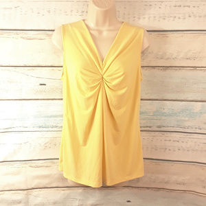 Dana Buchman Yellow Sleeveless Career Top Sz M